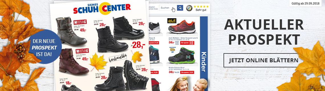 Prospekt Schuhcenter September/Oktober